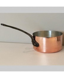 Early French Heavy Copper Saucepan Relined, Ca 1870