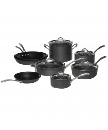 13-piece Cookware Set, Hard Anodized Aluminum, Durable With Nonstick Interior
