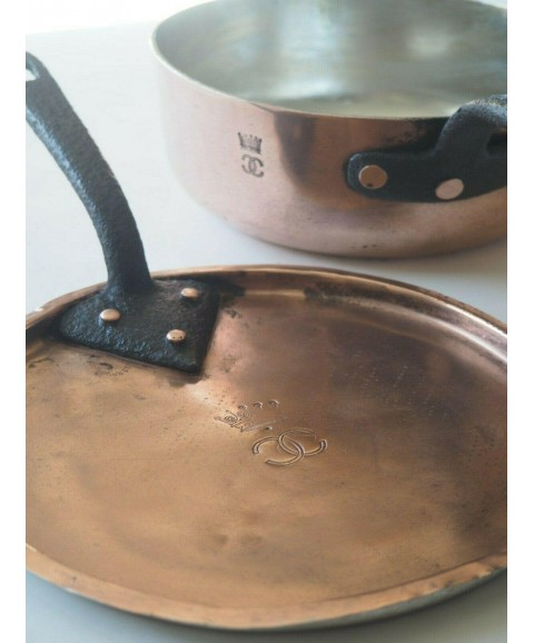 Antique English Copper Saucepan - Noble Stamp - English Nobility