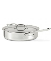 All Clad 3Qt Saute Pan with lid 4403SS