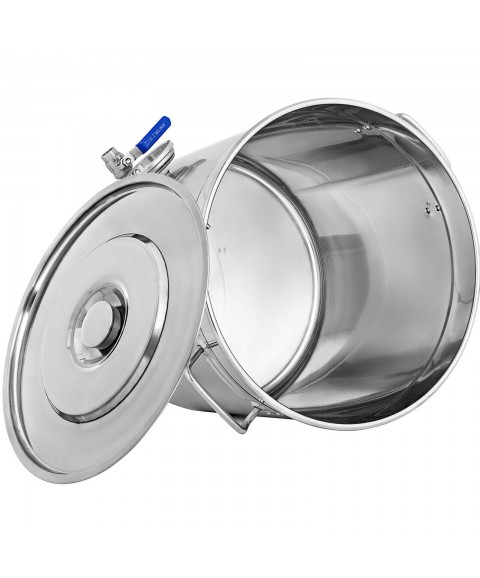 180 QT Stainless Steel Stock Pot Home Brew Kettle Stockpot Thermometer Beer Set