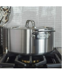 Viking Professional 5-Ply Stainless Steel Stockpot with Lid, 6 Quart