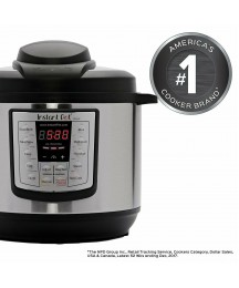 Instant Pot LUX80 8 Qt 6-in-1 Multi-Use Programmable Pressure Cooker, Slow