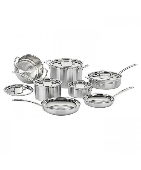 12-Piece Stainless Steel Professional Oven Safe Cookware Set Brand New