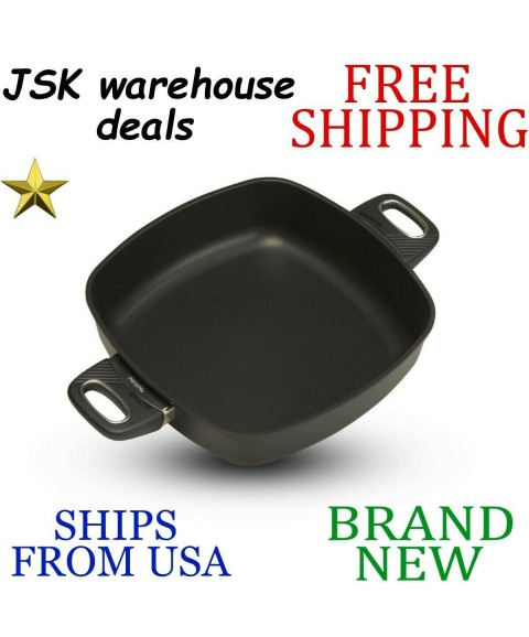 *New* GASTROLUX Biotan Nonstick Induction 11in Square SAUTE PAN w Dual Handles