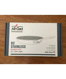 All-Clad Stainless Steel Tri-Ply Bonded Dishwasher Safe Non-Stick Fry Pan 12 In