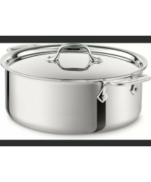 New ALL-CLAD D3 6 QT Stainless Steel Stockpot with Lid High Quality Professional