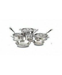 All-Clad 401488R Tri-Ply 10-Piece Stainless Steel Cookware Set
