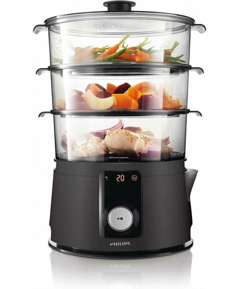 Philips Avance Collection HD9150/91 Steamer Electric 3 Baskets Black 900 W