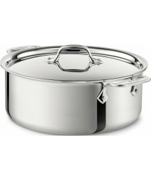 All-Clad 6-Qt 4506 SS Tri-Ply Bonded Dishwasher Safe Stock pot with Lid