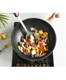 Nonstick Woks Cookware Lid Round Bottom Induction Stainless Steel Rim Eco-Friend