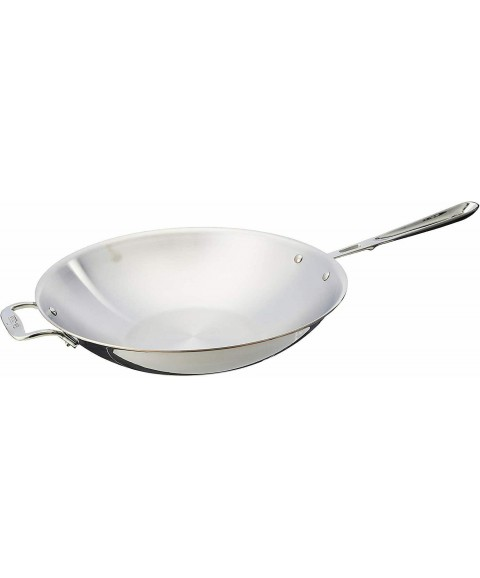 All-Clad 6414 SS Copper Core 5-ply Bonded Dishwasher Safe Open Stir Fry Pan Cook