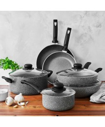 Ballarini 10-piece  Made in Italy  Nonstick Pans and Lids Oven, Dishwasher Safe,