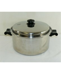 Saladmaster 6QT Stock Pot With Vapo Lid - Model T304S Stainless Steel - USA Made