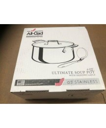 All-Clad D5 Stainless Steel, 6 Qt Ultimate Soup Pot SD555063