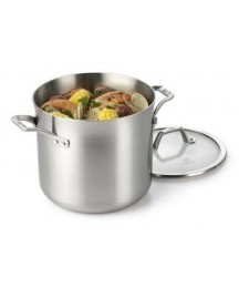Calphalon Accucore 8 qt Stockpot with Lid Stainless Steel, Alluminum, Copper New