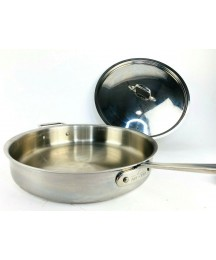 """All Clad Stainless Steel 13.5"""" Sauté Pan Lid 6QT Frying Sauce Cookware ALL-CLAD"""