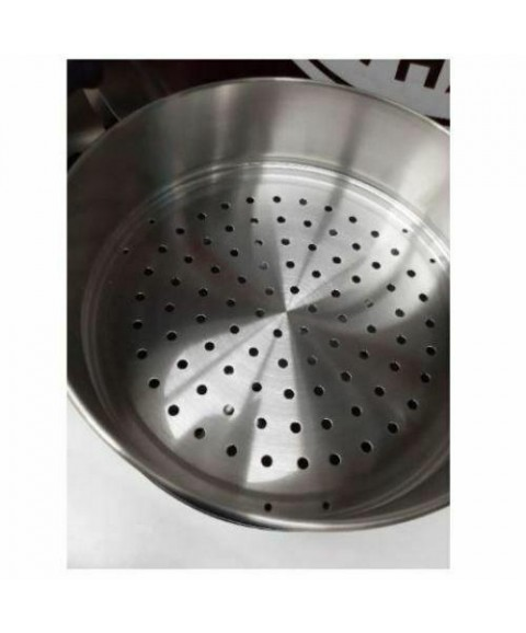 Pot Steamer Stainless Steel 32 cm Cooking Asian Thai Chinese Rice Steam 3 Layer