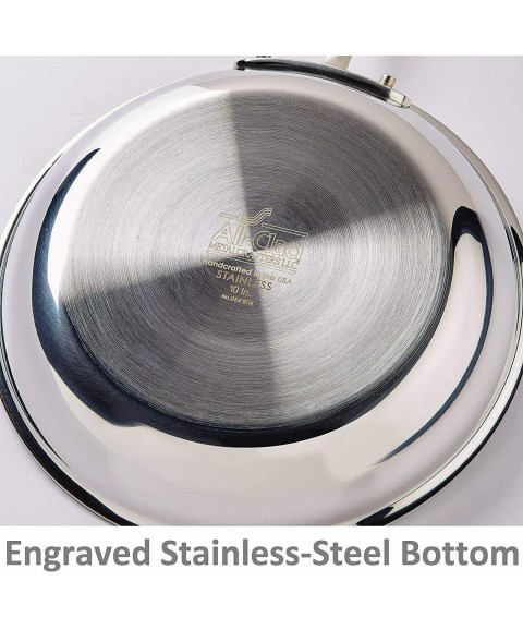 All-Clad D3 Stainless Steel Frying Pan, 10 and 12 Inch Cookware Set, 8-Inch
