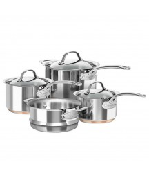 CHASSEUR 4PC LE CUIRVE STAINLESS STEEL COOKWARE SET - SAUCEPAN STEAMER INDUCTION