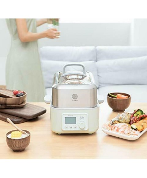 BUYDEEM G563 5-Quart Electric Food Steamer for Cooking One Touch Vegetable St...