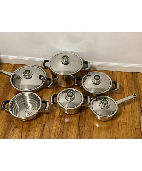11 Piece Multi Ply 12-Element Surgical Stainless Steel Cookware!