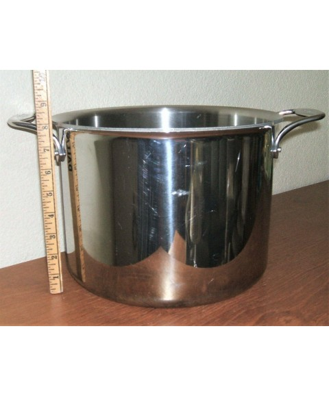 ALL CLAD D5 12QT STOCKPOT STEWPOT 5PLY STAINLESS STEEL COOKWARE 11.25