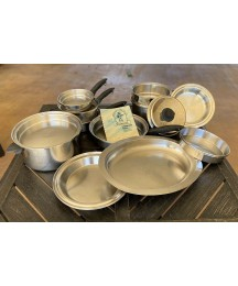 """Colonial Stainless Steel """"Waterless Cookware""""  3-PLY 18-8"""