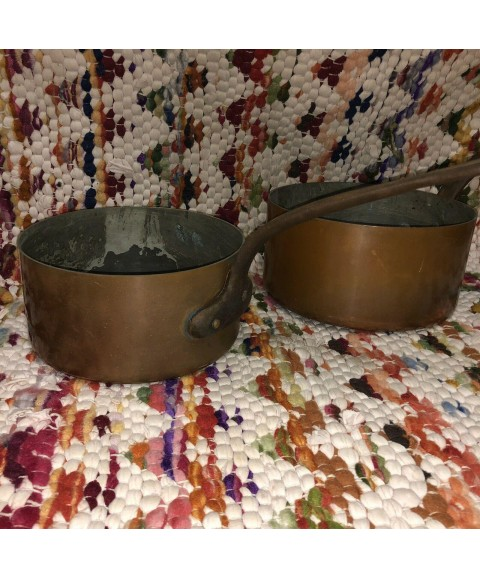 Antique French Copper Nesting Pots marked HAVARD made in France