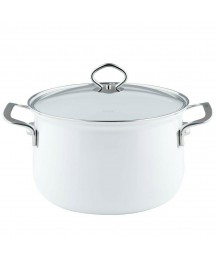 RIESS ENAMEL STEWPOT WITH GLASS LID 24 6.00 L MADE IN AUSTRIA ECO FIRENDLY