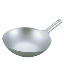 EBM Pure Titanium Ultralight Chinese One-Handed Wok (thickness 1.2 mm) 39cm