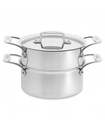 All-Clad D5 Brushed  18/10 SS 5-Ply 3-Qt.Casserole with Steamer Insert and Lid