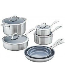 ~Zwilling® J.A. Henckels Energy Plus Nonstick Stainless Steel 10-Piece Cookware~