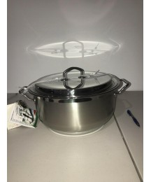 New Teknika By SILGA 32 Cm Large Stainless Steel Casserole