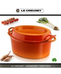 Le Creuset - Juice Goose Roaster - Doufeu Oval - 11 13/16in - Oven-Red