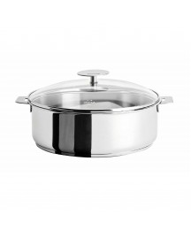 Cristel France Mutine Stainless Steel 2.75Qt Saute Pan with Lid