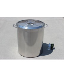 NEW Huge 200 QT Quart Polished Stainless Steel Stock Pot Brewing Kettle w/ Lid