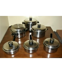 Amway Queen 14 Piece Stainless Steel Pots and Pans Set