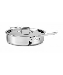 ALL-CLAD d5 5-Ply Nonstick, Polished Stainless Steel 4-QT SAUTE PAN w/ Lid *NEW*
