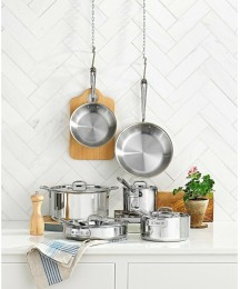 All-Clad D3 Stainless Steel 10-Pc. Cookware Set Brand New
