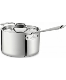All-Clad 4203 Sauce Pan with Lid, 4-Quart, Silver