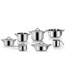 Barazzoni Flavour Italian Set Pot 11 Pieces Stainless Made IN Italy