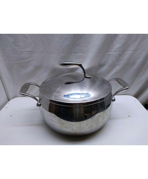 Tupperware Chef Series Stainless Non Stick 6 Qt Stock Pot Dutch Oven Roaster Lid