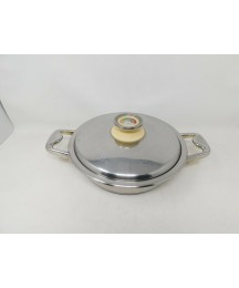 Zepter Masterpiece Casserole Pan Dish Stainless Steel Pot Thermo Control Lid