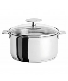 Cristel France Mutine Stainless Steel 4Qt Stewpan with Lid