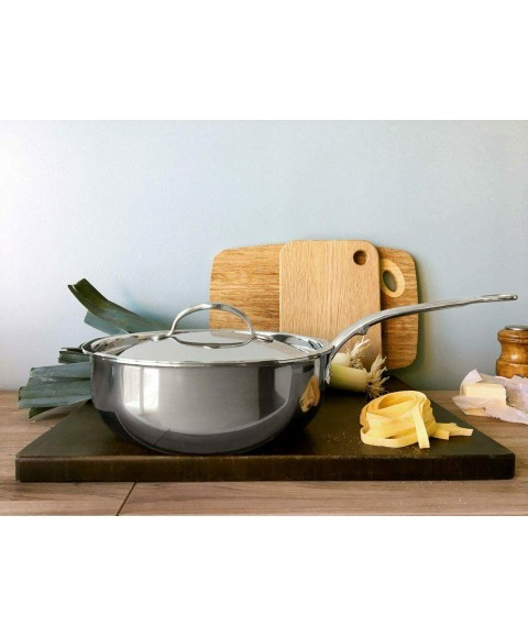 *NEW Hestan Titanium Nanobond 3.5Qt Covered Essential Pan Made in ITALY