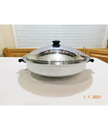 SALADMASTER 7 QT WOK TP304S SURGICAL STAINLESS STEEL & LID Waterless Cookware