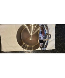 Anolon Tri-Ply Clad Stainless Steel Pots and Pans Set, 16 Pieces