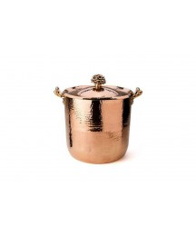 10 Qt Copper Stock Pot with Cast Bronze Handle and Tin Lined