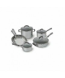 Calphalon Simply Stainless Steel 10-piece Cookware Set - Silver